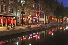Rood lichtdistrict in Amsterdam Stock Afbeelding