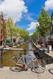 Rood lichtdistrict in Amsterdam, Nederland Royalty-vrije Stock Foto
