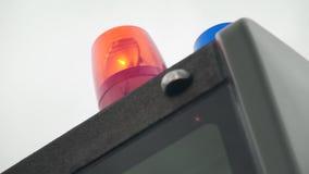 Rood lichtflitser stock videobeelden