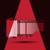 Rood lichtspoel van film royalty-vrije illustratie