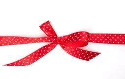 Rood lint met boog Royalty-vrije Stock Foto
