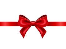 Rood lint met boog Vector illustratie Stock Foto's