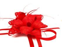 Rood lint op witte achtergrond Royalty-vrije Stock Fotografie
