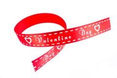 De Valentijnskaart van het lint Stock Fotografie