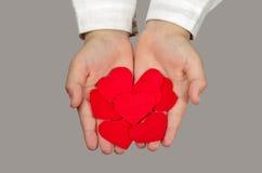 Rood lint van liefde Royalty-vrije Stock Foto