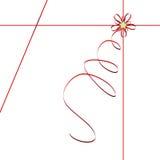 Rood lint - vectorillustratie vector illustratie