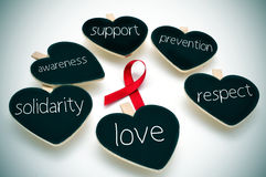 Rood lint voor de bestrijding van AIDS Royalty-vrije Stock Foto's