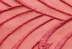 Rood materieel de textuur macroschot van het netwerkkant Royalty-vrije Stock Afbeeldingen