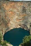 Rood meer Imotski in Kroatië Stock Afbeeldingen