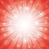 Rood met velen witte sneeuwvlok voor abstract ontwerpconcept is gebarsten dat als achtergrond royalty-vrije illustratie