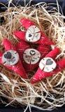 Rood met witte nevel, liefdehart stock fotografie