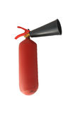Rood metaalbrandblusapparaat met gekraste verf Royalty-vrije Stock Fotografie