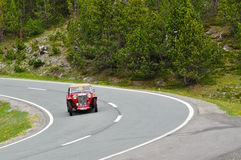 Rood MG TC bouwde 1948 in Stock Foto