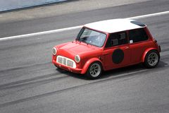 Rood Mini Cooper Stock Afbeelding