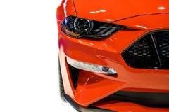 Rood Mustang Royalty-vrije Stock Afbeeldingen