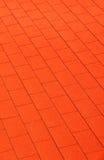 Rood muur rood dak Royalty-vrije Stock Foto's