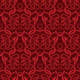 Rood naadloos behang Royalty-vrije Stock Afbeelding