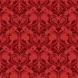 Rood naadloos behang Stock Illustratie