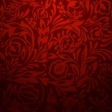 Rood naadloos bloemenpatroon Stock Foto's