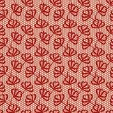 Rood naadloos bloemenpatroon Stock Afbeelding
