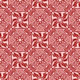Rood naadloos ornament Vector Illustratie