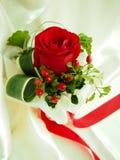 Rood nam Boeket voor mijn Valentijnskaart toe Stock Foto
