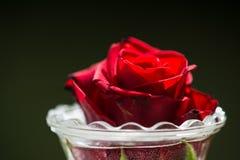 Rood nam in een glas toe royalty-vrije stock afbeelding