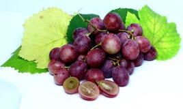 Rood nam geïsoleerde druiven toe Stock Fotografie