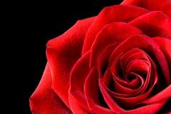 Rood nam geïsoleerde op zwarte toe Royalty-vrije Stock Afbeelding