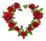 Rood nam kader in de vorm van hart op wit toe stock illustratie