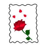 Rood nam met bloemblaadjes toe Stock Foto