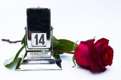 Rood nam met kalender toe Royalty-vrije Stock Afbeeldingen