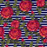 Rood nam naadloos patroon voor uw ontwerp toe Vector illustratie vector illustratie