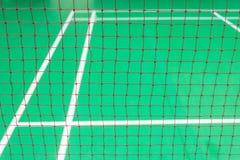 Rood netto badminton Royalty-vrije Stock Afbeelding