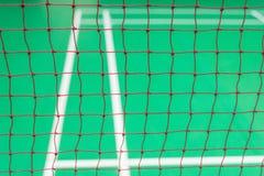 Rood netto badminton Stock Foto