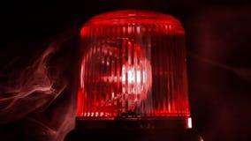 rood noodsituatielicht Sluit omhoog stock videobeelden