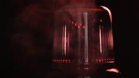 rood noodsituatielicht Sluit omhoog stock footage