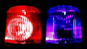 rood noodsituatielicht Sluit omhoog stock video