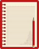 rood notitieboekje Royalty-vrije Stock Foto