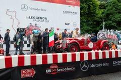 Rood OM 665 Superba, 1929, begint 1000 Miglia Royalty-vrije Stock Afbeelding