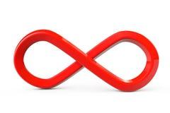 Rood oneindigheidssymbool Royalty-vrije Stock Afbeeldingen