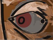 Rood oog vector illustratie