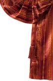 Rood oosters gordijn Stock Fotografie