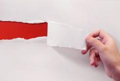 Rood op Witboek Stock Foto's