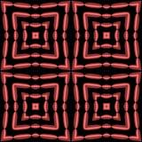 Rood op zwarte met geproduceerd hart, kaleidoscopically royalty-vrije illustratie