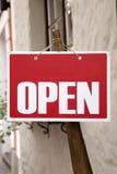 Rood open teken Royalty-vrije Stock Afbeeldingen
