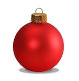 Rood ornament met het knippen van weg royalty-vrije stock foto's