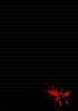 Rood overeenkomstendocument stock illustratie