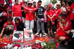 Rood overhemdenprotest in Bangkok Royalty-vrije Stock Afbeelding