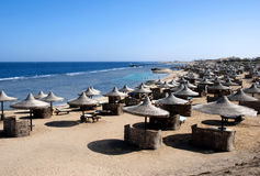 Rood Overzees strand - Egypte Stock Foto